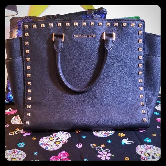 Michael Kors Handbags - MK large studded Selma